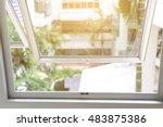 Opened Aluminium Window With...