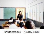 blurred primary school... | Shutterstock . vector #483876538
