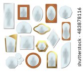 different realistic mirrors set ... | Shutterstock .eps vector #483878116