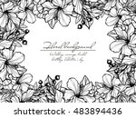 invitation with floral... | Shutterstock . vector #483894436