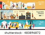 journey travel with pleasure... | Shutterstock .eps vector #483896872