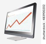 monoblock pc vector infographics