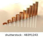 3d business statistics | Shutterstock . vector #48391243