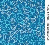 education vector background | Shutterstock .eps vector #483917542