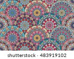 scales pattern from flower... | Shutterstock .eps vector #483919102