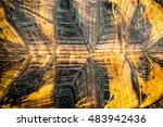 texture of turtle shell can be... | Shutterstock . vector #483942436
