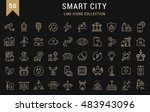 set vector line icons with open ... | Shutterstock .eps vector #483943096