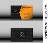 business card template. | Shutterstock .eps vector #483943798