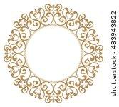 decorative line art frames for... | Shutterstock . vector #483943822