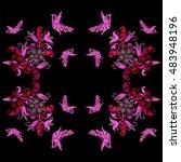 russian ornament. fairy pride.... | Shutterstock . vector #483948196