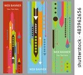 arrow web banners template.... | Shutterstock .eps vector #483962656