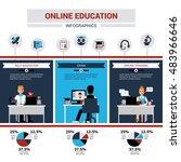 online education infographics... | Shutterstock . vector #483966646