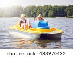 take me a photo on this paddle... | Shutterstock . vector #483970432