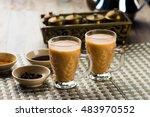 hot arabic tea   Shutterstock . vector #483970552