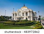 metropolitan cathedral and... | Shutterstock . vector #483972862