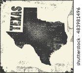 texas vector map stamp. retro... | Shutterstock .eps vector #483981496