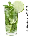 fresh mojito cocktail isolated... | Shutterstock . vector #48398221
