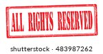"""stamp with text """"all rights... 