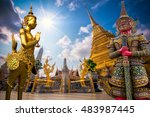 travel concept  golden angel ... | Shutterstock . vector #483987445