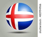 iceland flag sphere icon on...