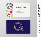 modern letter g circle colorful ... | Shutterstock .eps vector #483995176