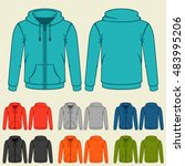 Set Of Colored Hoodies...
