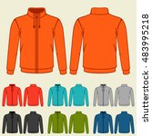 set of colored sports jackets...   Shutterstock .eps vector #483995218