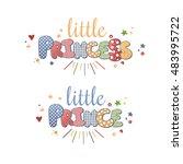 cute vector lettering little...   Shutterstock .eps vector #483995722