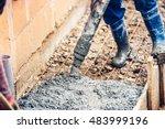 close up of industrial worker... | Shutterstock . vector #483999196