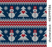 winter holiday knitting sweater ... | Shutterstock .eps vector #483999586