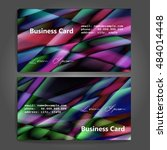 stylish business cards with... | Shutterstock .eps vector #484014448