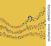 multicolored music note icon....   Shutterstock .eps vector #484022416