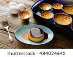 custard creme caramel flan... | Shutterstock . vector #484024642