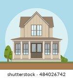 house icon. vector illustration ...   Shutterstock .eps vector #484026742