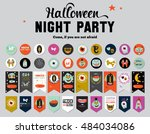 cute cards  notes  stickers ... | Shutterstock .eps vector #484034086