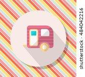 travel trailer icon  vector... | Shutterstock .eps vector #484042216