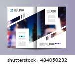 brochure template  flyer design ... | Shutterstock .eps vector #484050232