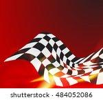 race flag background vector...   Shutterstock .eps vector #484052086