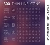 thin line icons for business