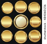 empty luxury golden labels... | Shutterstock .eps vector #484060156