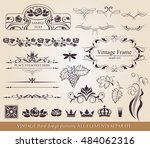 floral vector design elements... | Shutterstock .eps vector #484062316