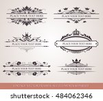 floral vector design elements ... | Shutterstock .eps vector #484062346