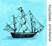 hand drawn doodle ship. travel  ...   Shutterstock .eps vector #484062916