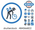 around the clock work icon with ...   Shutterstock .eps vector #484066822