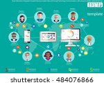 vector illustration infographic ... | Shutterstock .eps vector #484076866