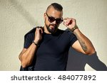 portrait of sexy man in... | Shutterstock . vector #484077892