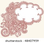 hand drawn cloud shaped henna ... | Shutterstock .eps vector #48407959