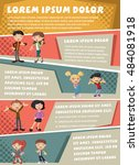 vector brochure backgrounds... | Shutterstock .eps vector #484081918