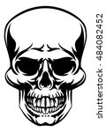 a skull scary skull design... | Shutterstock . vector #484082452