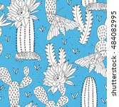 hand drawn seamless pattern... | Shutterstock .eps vector #484082995